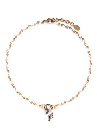 Main View - Click To Enlarge - Erickson Beamon - 'Milky Way' Swarovski crystal 24k gold plated swirl necklace