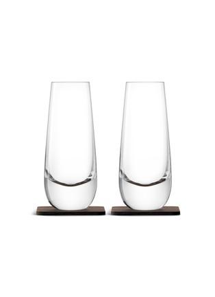 Main View - Click To Enlarge - Lsa - Whisky Islay mixer glass and walnut coaster set