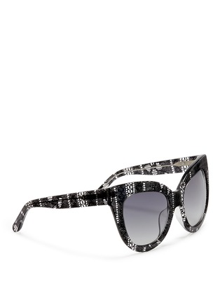 Figure View - Click To Enlarge - Linda Farrow Designers Collection - x Erdem lace print acetate cat eye sunglasses