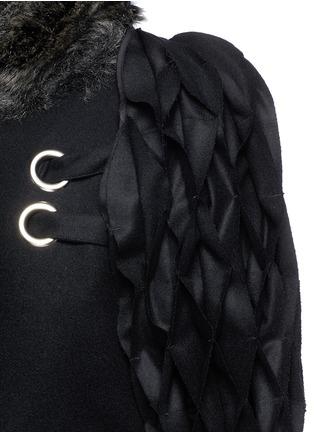 Detail View - Click To Enlarge - FACETASM - 'Jovial' honeycomb sleeve wool coat