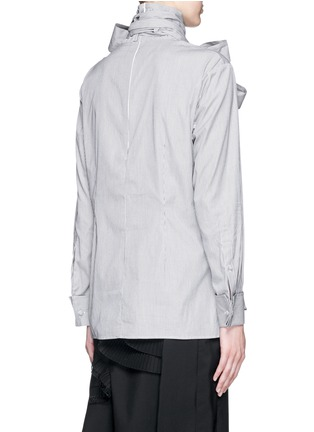 Back View - Click To Enlarge - FACETASM - '5 Face Ribbon' stripe cotton poplin shirt