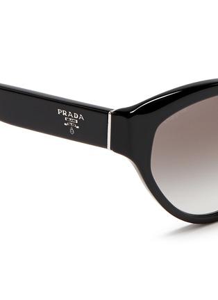 Detail View - Click To Enlarge - Prada - Acetate cat eye sunglasses