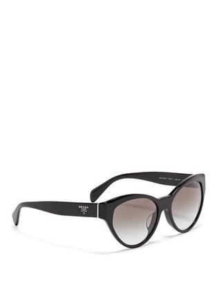 Figure View - Click To Enlarge - Prada - Acetate cat eye sunglasses