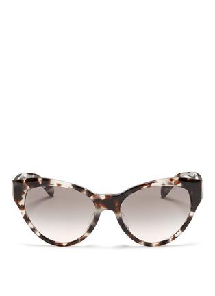 Main View - Click To Enlarge - Prada - Tortoiseshell acetate cat eye sunglasses