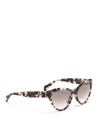 Figure View - Click To Enlarge - Prada - Tortoiseshell acetate cat eye sunglasses