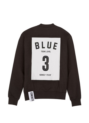 Main View - Click To Enlarge - Studio Concrete - 'Series 1 to 10' unisex sweatshirt - 3 Blue