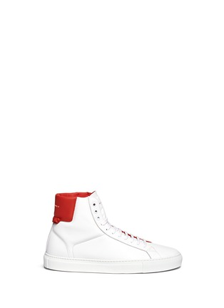 Main View - Click To Enlarge - Givenchy - Knot back high top leather sneakers