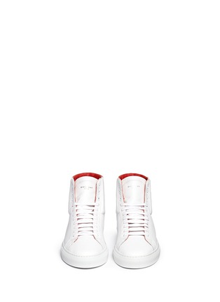 Figure View - Click To Enlarge - Givenchy - Knot back high top leather sneakers