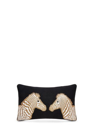 Main View - Click To Enlarge - Jonathan Adler - Animalia bead zebra cushion