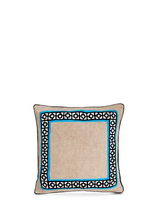 Main View - Click To Enlarge - Jonathan Adler - Palm Springs embroidery linen pillow