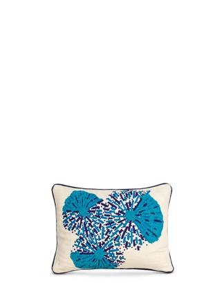 Main View - Click To Enlarge - Jonathan Adler - Jaipur bead sunbursts linen cushion