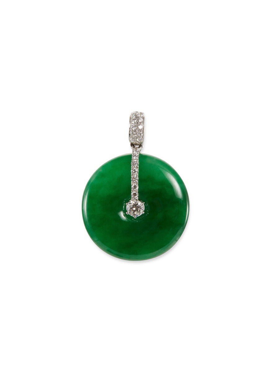 Luxury Gold /& Green Crystal Round Pendant Necklace N214