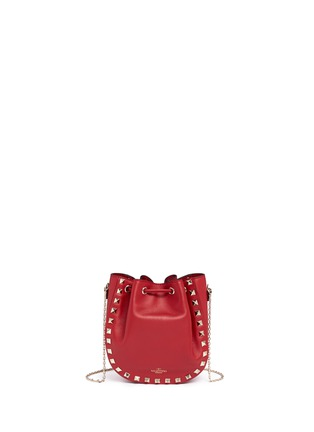 Detail View - Click To Enlarge - Valentino - 'Rockstud' leather bucket bag