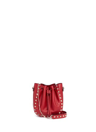Main View - Click To Enlarge - Valentino - 'Rockstud' leather bucket bag
