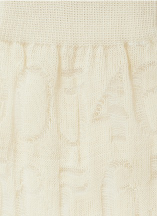 Detail View - Click To Enlarge - HANSEL FROM BASEL - 'Number' sheer crew socks