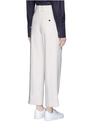 Back View - Click To Enlarge - FFIXXED STUDIOS - Pleated wide leg felted wool trousers
