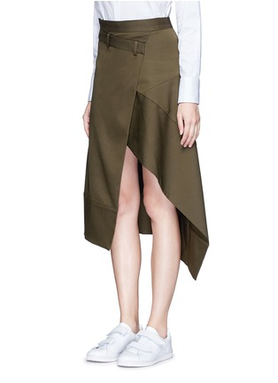 Front View - Click To Enlarge - FFIXXED STUDIOS - 'Boundary' asymmetric mock wrap front skirt