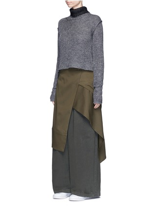 Figure View - Click To Enlarge - FFIXXED STUDIOS - 'Boundary' asymmetric mock wrap front skirt
