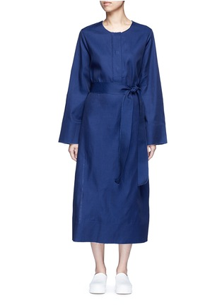 Main View - Click To Enlarge - FFIXXED STUDIOS - 'Out' belted cotton-tencel dress