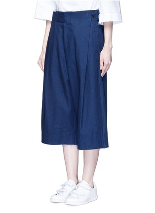 Front View - Click To Enlarge - FFIXXED STUDIOS - Cotton-tencel unisex culottes