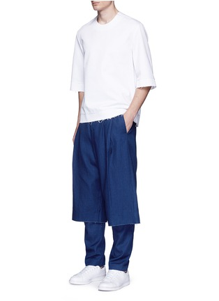 Figure View - Click To Enlarge - FFIXXED STUDIOS - Cotton-tencel unisex culottes