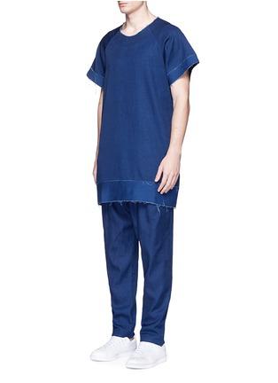 Detail View - Click To Enlarge - FFIXXED STUDIOS - Frayed edge cotton-tencel unisex dress