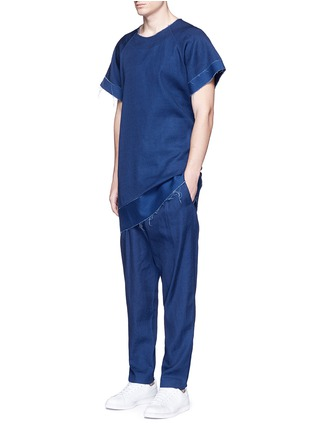 - FFIXXED STUDIOS - Frayed edge cotton-tencel unisex dress