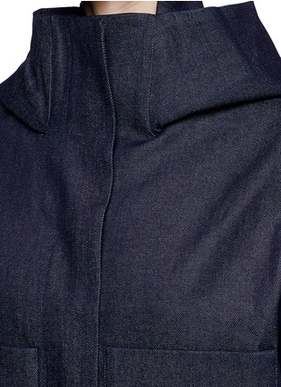 Detail View - Click To Enlarge - FFIXXED STUDIOS - Hooded Japanese cotton denim bomber