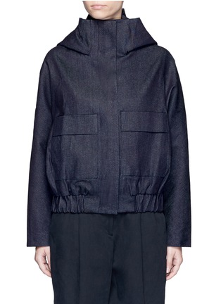 Main View - Click To Enlarge - FFIXXED STUDIOS - Hooded Japanese cotton denim bomber