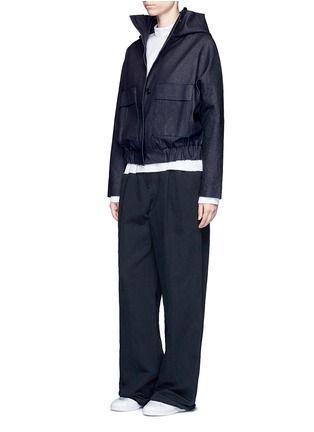 Figure View - Click To Enlarge - FFIXXED STUDIOS - Hooded Japanese cotton denim bomber