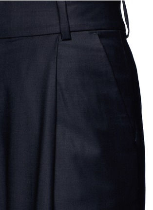 Detail View - Click To Enlarge - FFIXXED STUDIOS - Pleated wide leg wool blend trousers