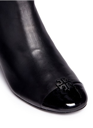 Detail View - Click To Enlarge - Tory Burch - 'Jolie' patent toe cap leather ankle boots