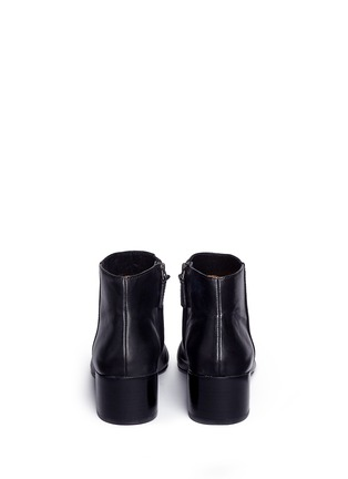 Back View - Click To Enlarge - Tory Burch - 'Jolie' patent toe cap leather ankle boots