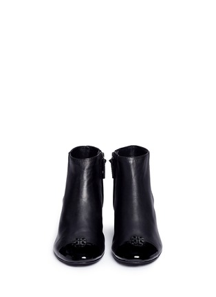 Front View - Click To Enlarge - Tory Burch - 'Jolie' patent toe cap leather ankle boots