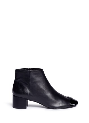 Main View - Click To Enlarge - Tory Burch - 'Jolie' patent toe cap leather ankle boots