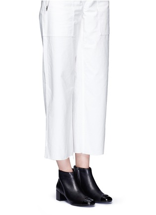 Figure View - Click To Enlarge - Tory Burch - 'Jolie' patent toe cap leather ankle boots