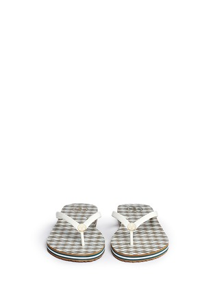 Front View - Click To Enlarge - Tory Burch - 'Thin' Ravenna print flip flops