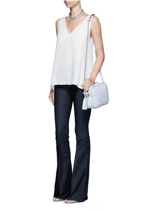 Figure View - Click To Enlarge - Tory Burch - 'Thea' pebbled leather crossbody tassel bag