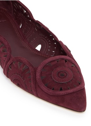 Detail View - Click To Enlarge - Tory Burch - 'Leyla' floral lasercut suede flats