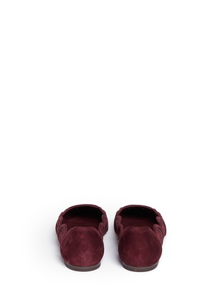 Back View - Click To Enlarge - Tory Burch - 'Leyla' floral lasercut suede flats