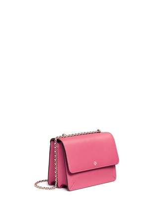 Front View - Click To Enlarge - Tory Burch - 'Robinson' convertible saffiano leather chain bag