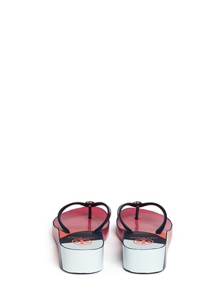 Back View - Click To Enlarge - Tory Burch - 'Thandie' print wedge flip flops