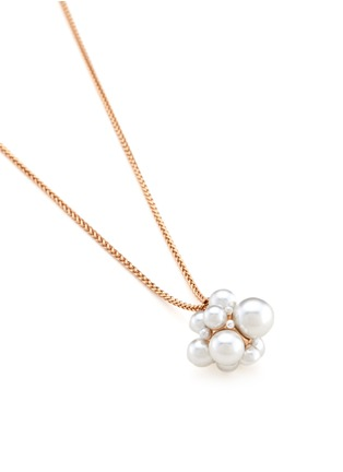 Detail View - Click To Enlarge - Kenneth Jay Lane - Glass pearl cluster pendant necklace
