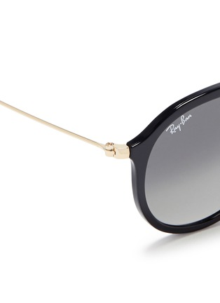 Detail View - Click To Enlarge - Ray-Ban - 'RB4253' metal temple acetate aviator sunglasses