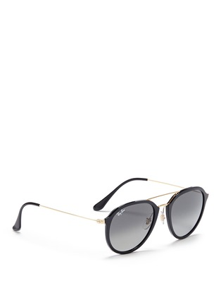Figure View - Click To Enlarge - Ray-Ban - 'RB4253' metal temple acetate aviator sunglasses