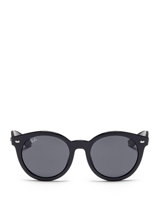 Main View - Click To Enlarge - Ray-Ban - 'RB4261' round acetate sunglasses