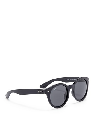 Figure View - Click To Enlarge - Ray-Ban - 'RB4261' round acetate sunglasses