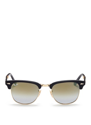 Main View - Click To Enlarge - Ray-Ban - Clubmaster Folding' acetate browline sunglasses