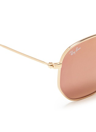Detail View - Click To Enlarge - Ray-Ban - 'RB3548' metal hexagonal mirror sunglasses