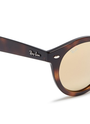 Detail View - Click To Enlarge - Ray-Ban - 'RB4261' tortoiseshell acetate mirror sunglasses